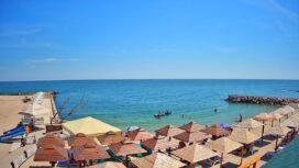 Пляж базы отдыха «Аркада» на Средней косе