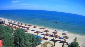 Пляж отеля «Посейдон» на Дальней косе