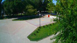 Приморская площадь и инсталляция I Love Бердянск